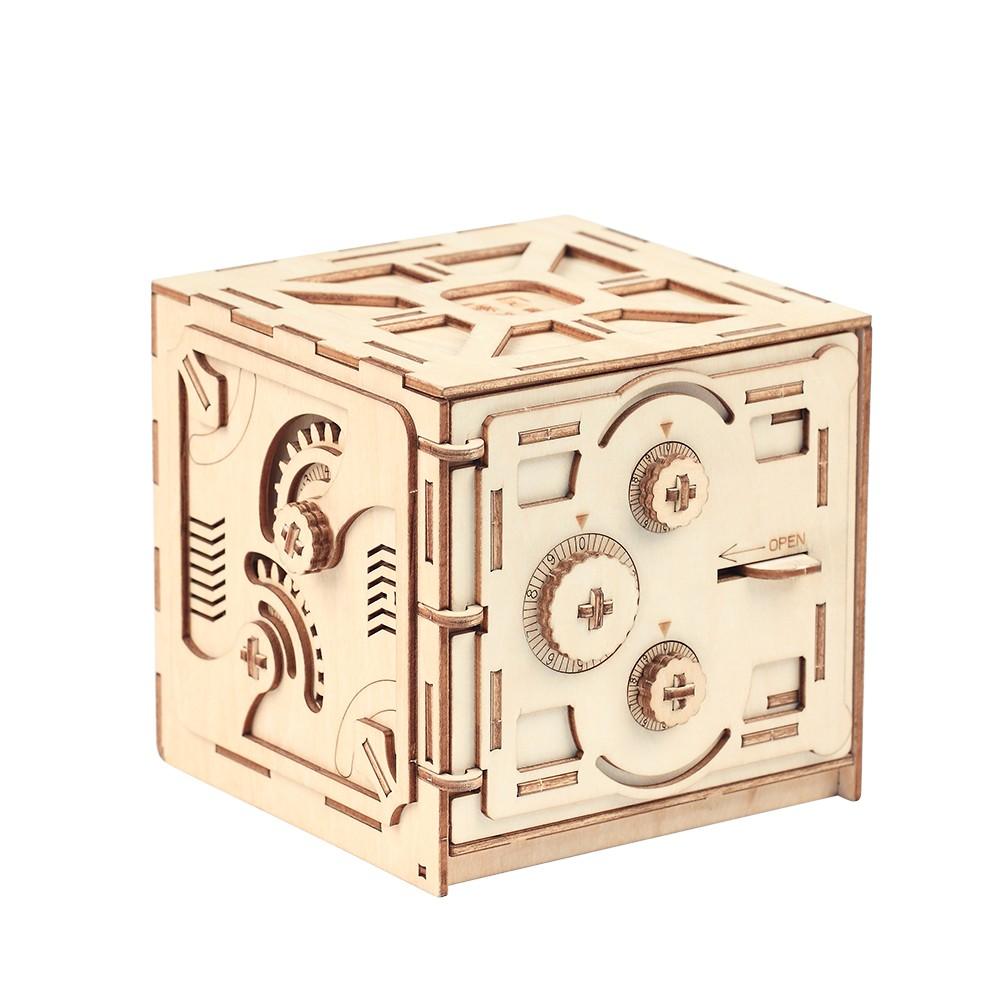 Rompecabezas caja de almacenamiento de madera ahorro de dinero caja de c digo de dise o unidad - Caja rompecabezas ...