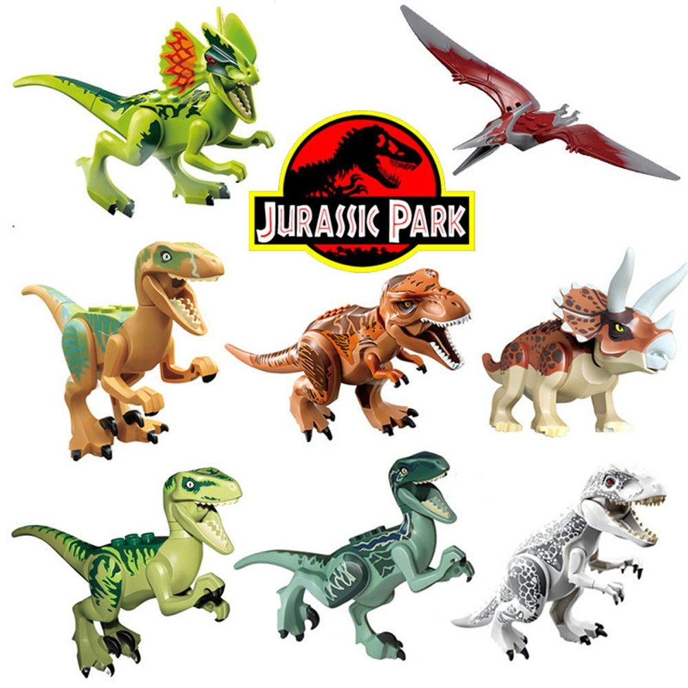 8pcs Jurassic Park Dinosaur Play Toy Animal Action Figures (style 1)