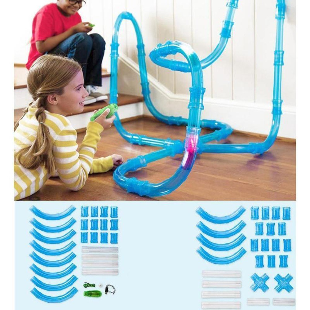 Puzzle Early Educational Assembled Railcar Toy(27PCS Tubes & Car)