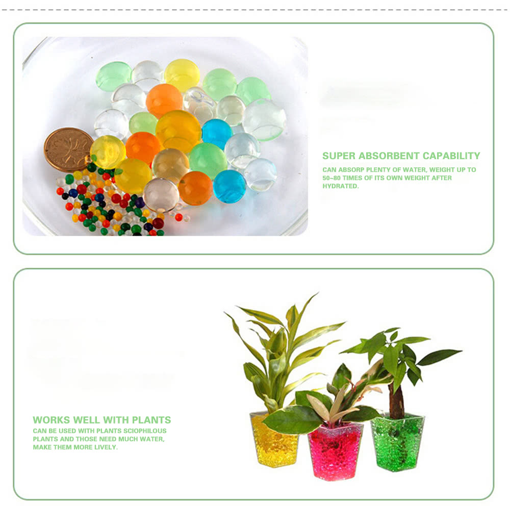 Multicolor Pearl Shaped Tactile Crystal Soil Water Beads Mud Grow Magic  Jelly Growing Balls Glass Filler Home Decor Aqua Rainbow Mix Sensory Toys