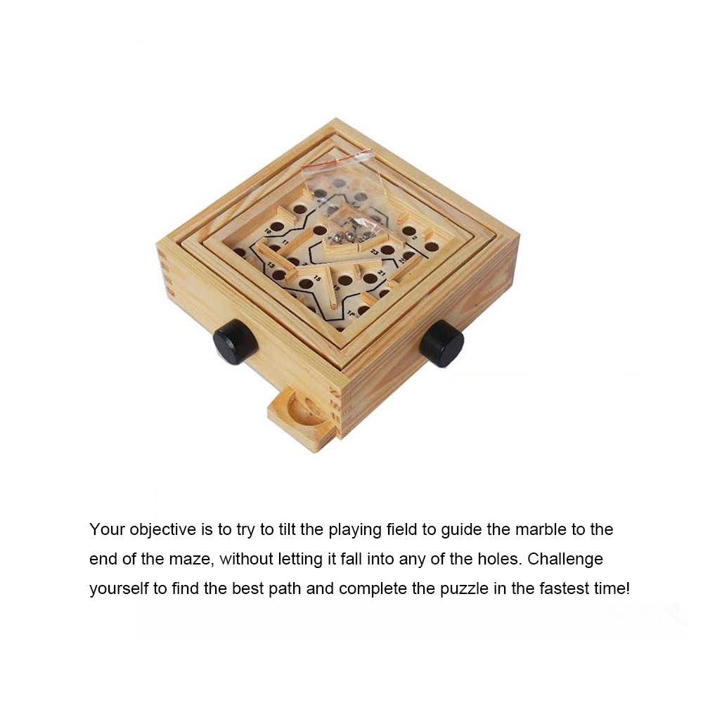 Balance Board Maze Game: Wooden Labyrinth Puzzle Maze Game Wooden Labyrinth Balance