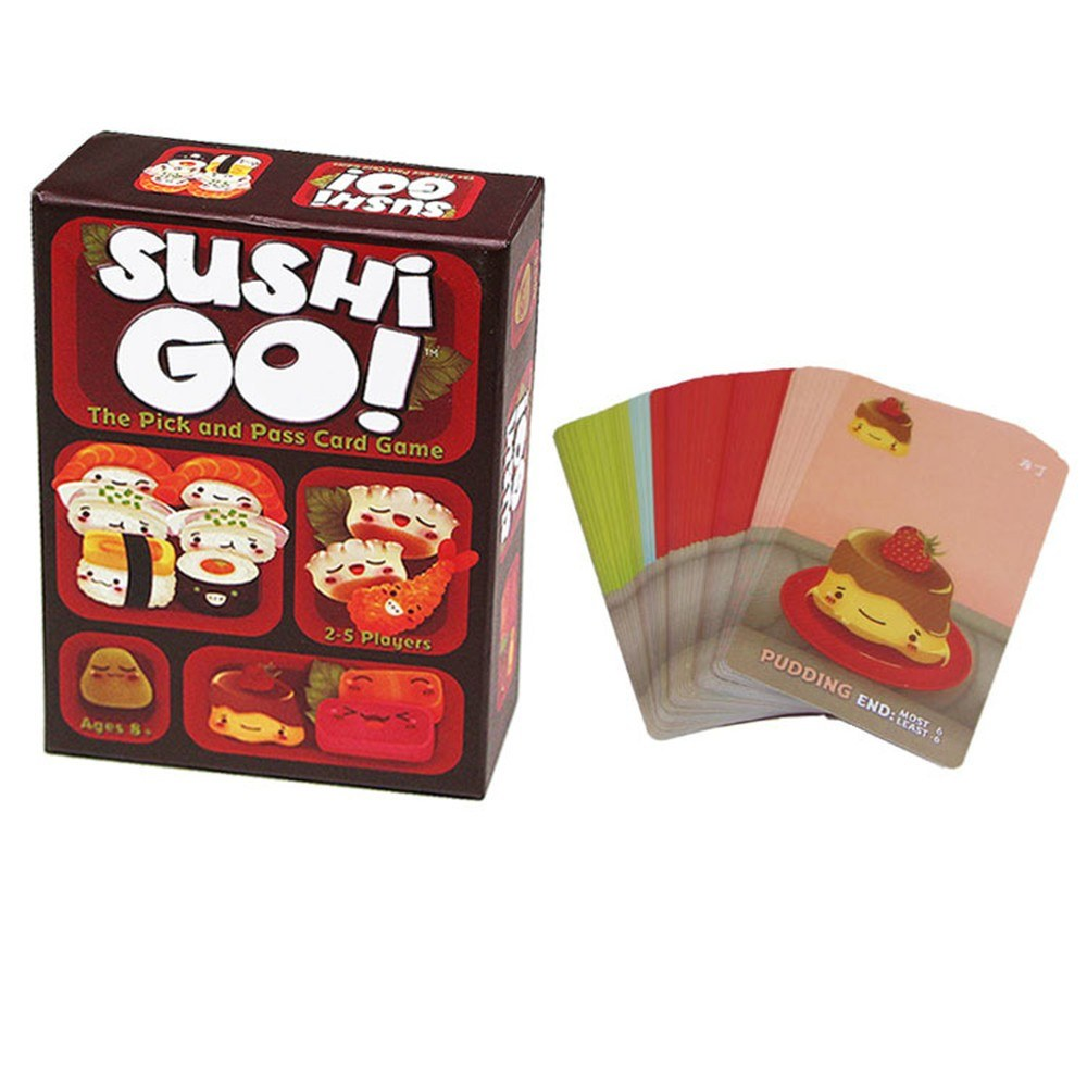 Sushi Go Pick and Pass Card Game Go Party Family Fun Parent-child Toy Educational Puzzle Games