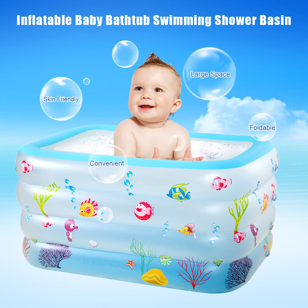 Foldable Inflatable Toddler Bathtub Shower Swimming Pool for Sale ...