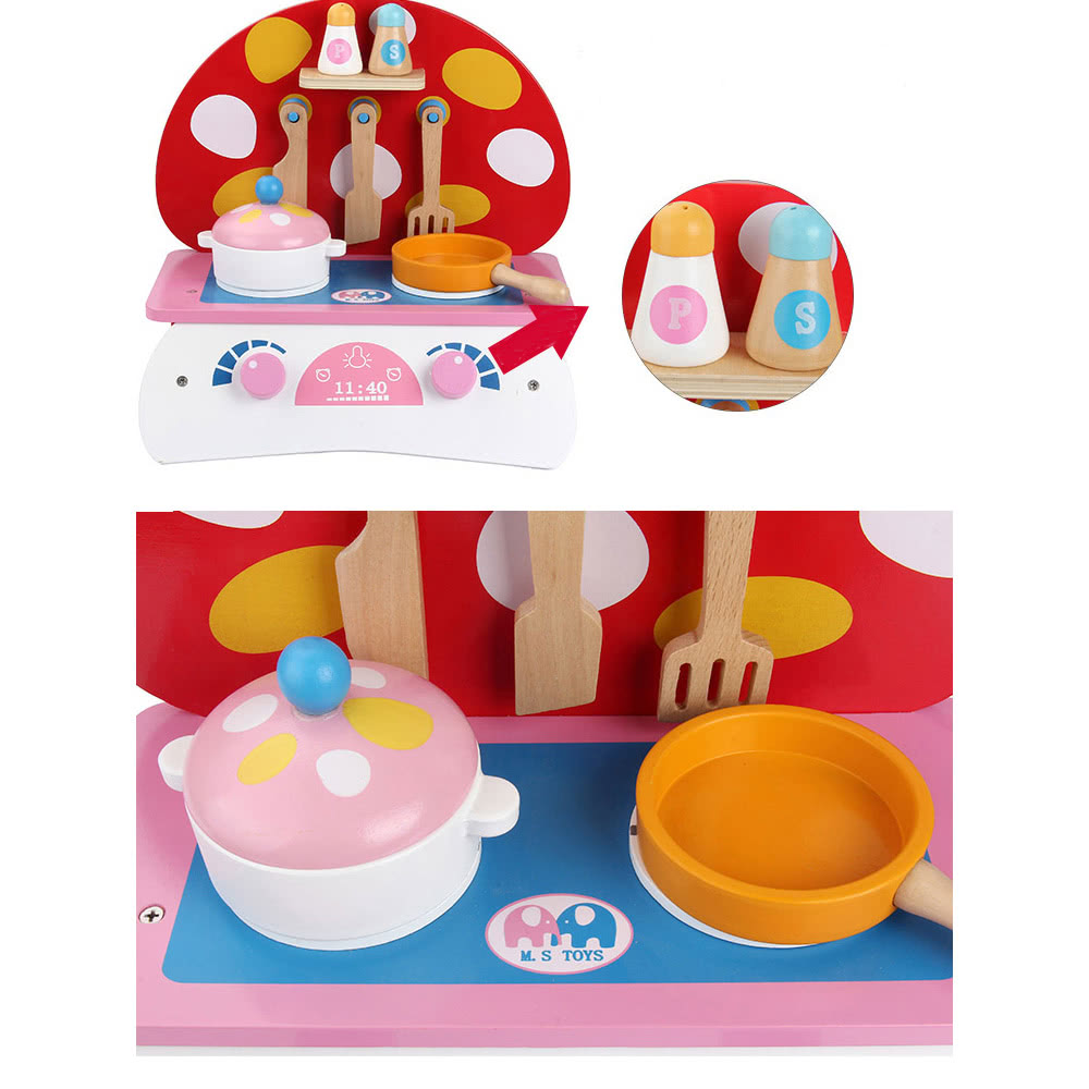 wooden kitchen toy food cooking toys baby pretend play a sma