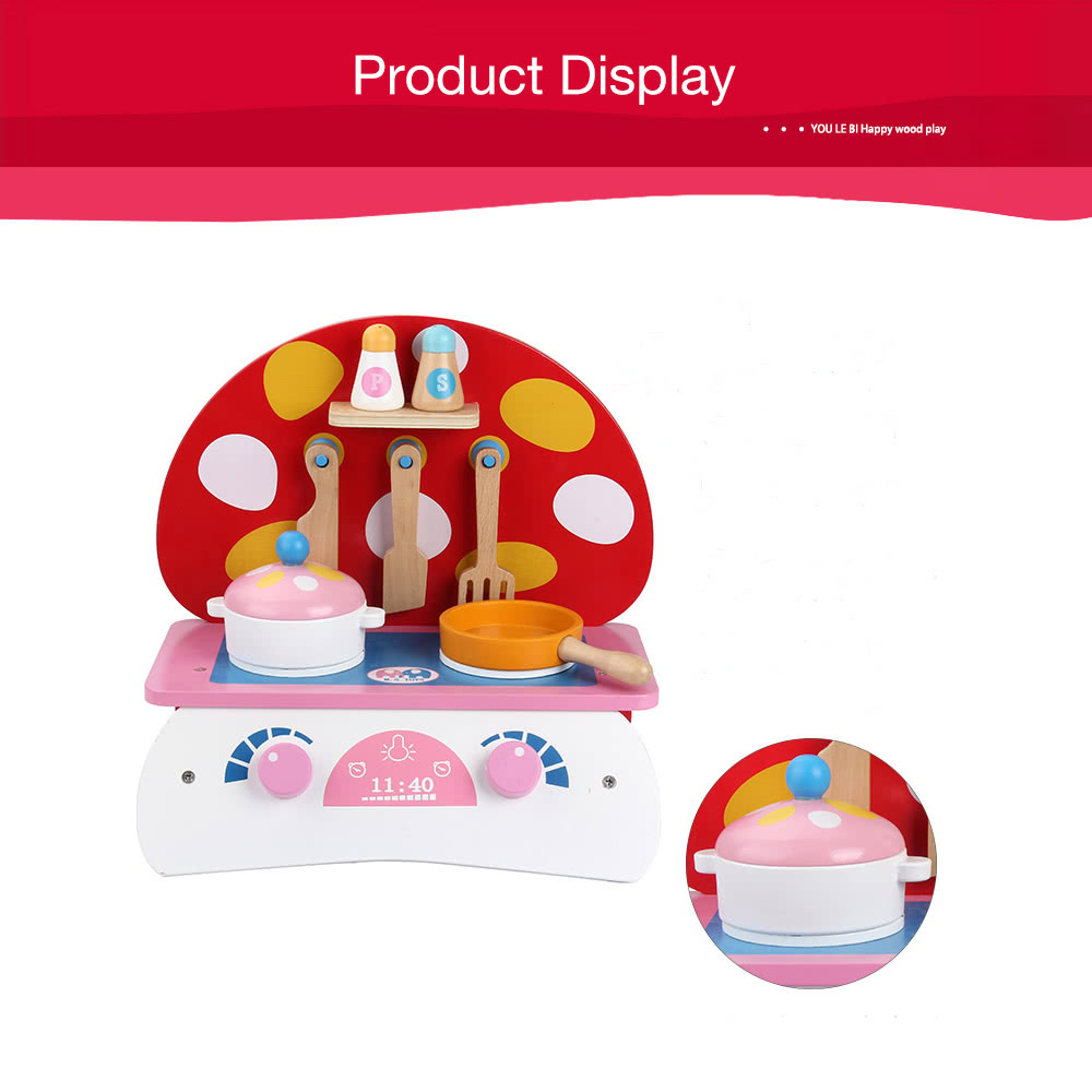 Wooden Kitchen Toy Food Cooking Toys Baby Pretend Play A Small ...
