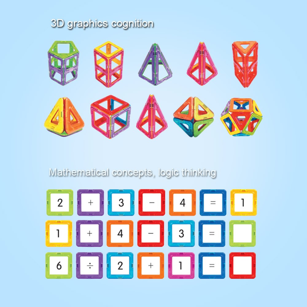 Magnetic Toy 108 Pieces Plastic Building Blocks 3d Monaco Rv Wiring Diagram M38d Kits Diy Kids Toys Educational Model