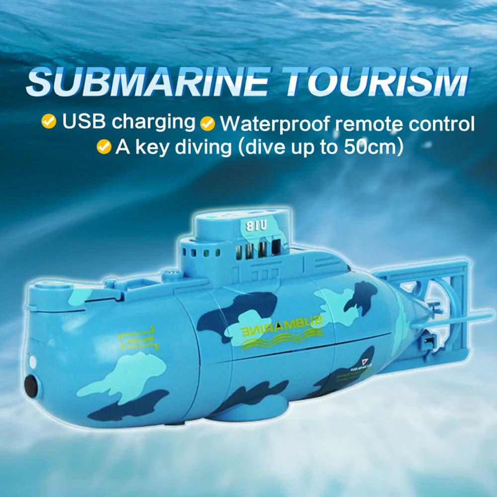 Shen qi wei Children Rechargeable Remote Toy Mini Submarine 6CH Radio  Remote Control Super Mini Submarine Toy with 40MHz Transmitter Kids Gift