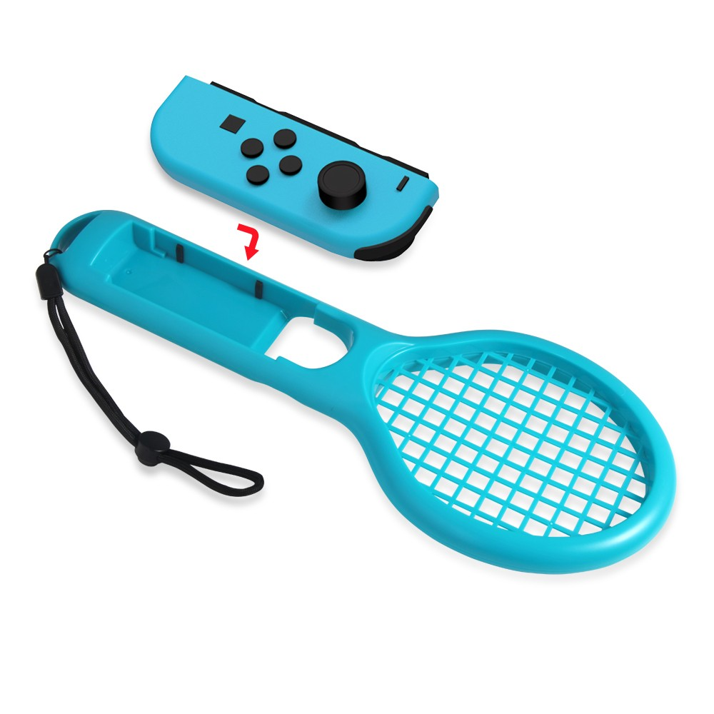 Twin Pack Tennis Racket For Mario Aces Joy Con Controllers Switch English Us Games Nintendo Sale Us1214 Red Blue Tomtop