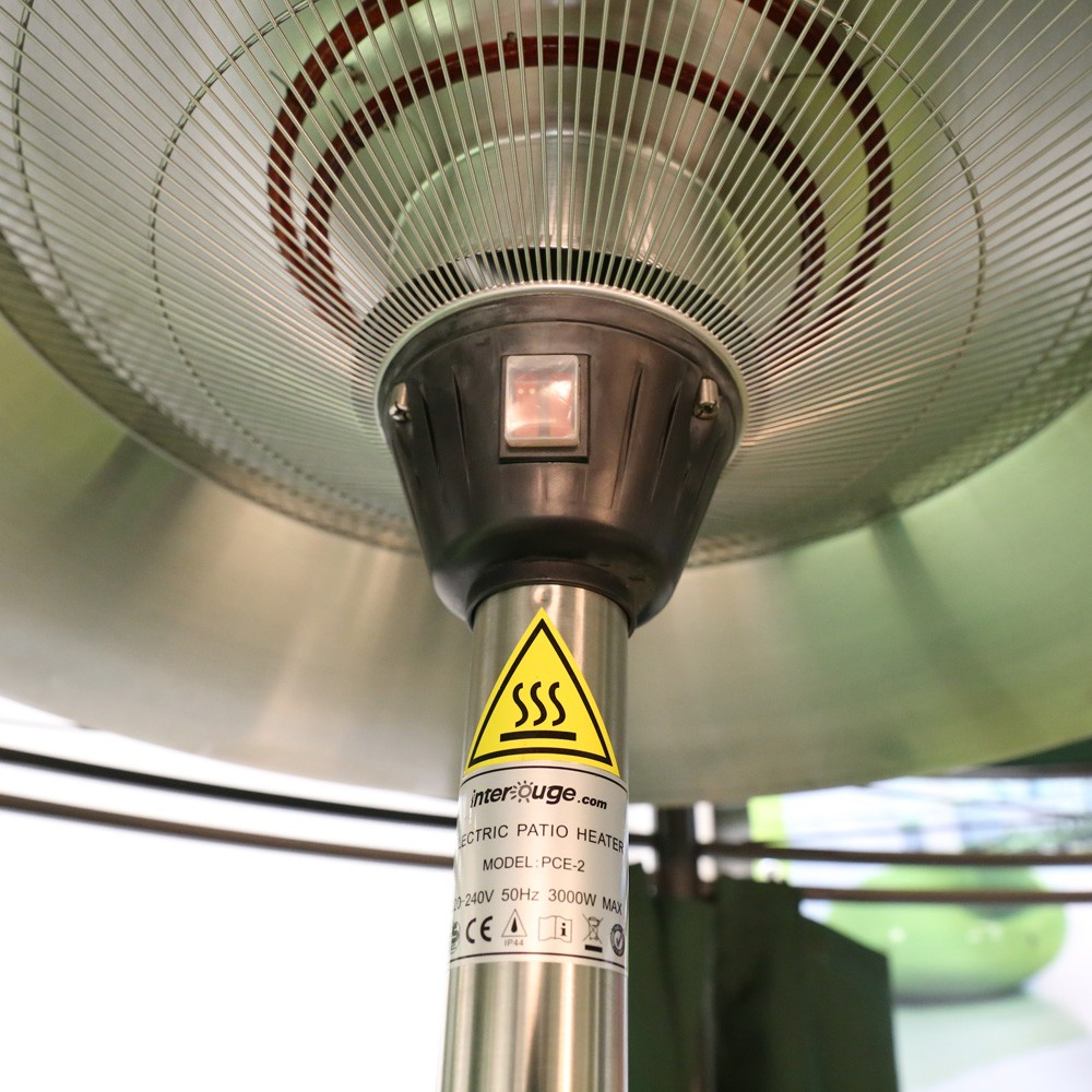 electric patio heater with 3 adjustable levels power
