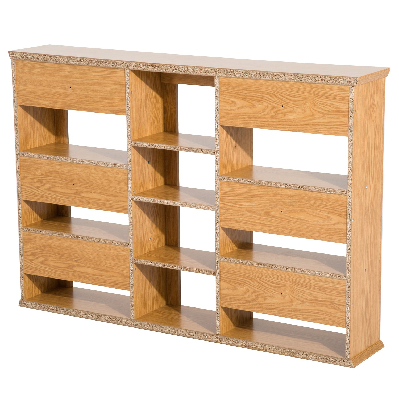 Wall Mount CD / DVD Media Storage Shelf Rack   Light Oak Sales Online Brown    Tomtop