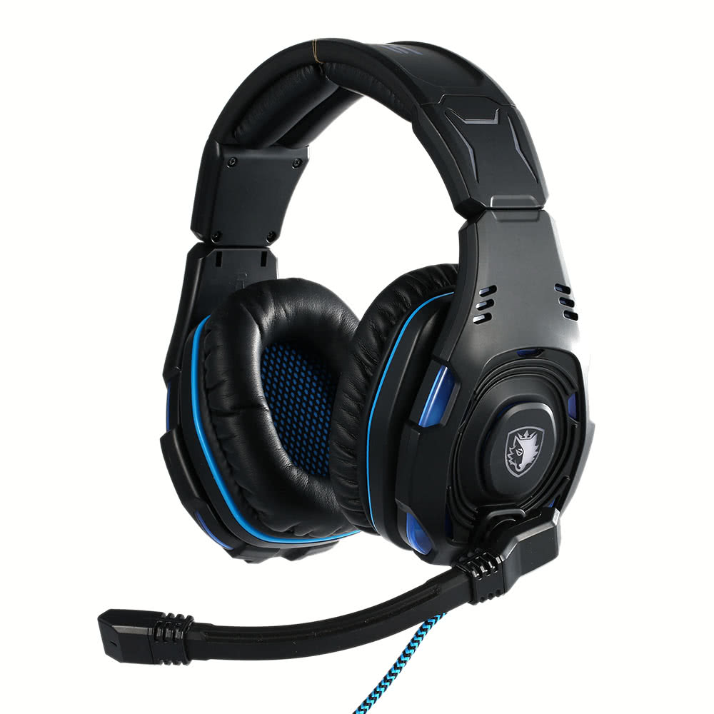SADES SA-907 Gaming Headphone with Mic USB Professional Over Ear Stereo  Gaming Headset with LED Noise Cancellation & Wonderful Sound Effect Music