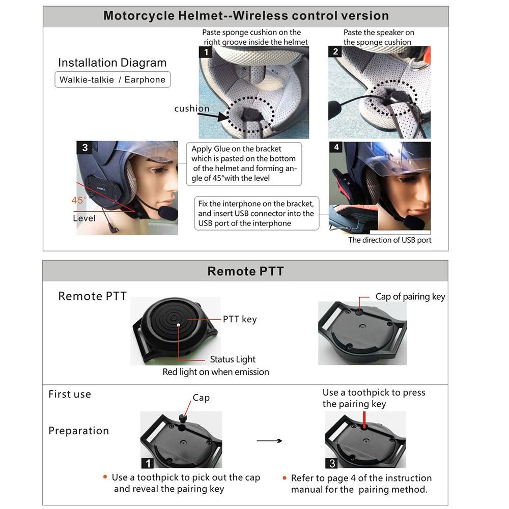 x3 plus bluetooth intercom motorcycle helmet
