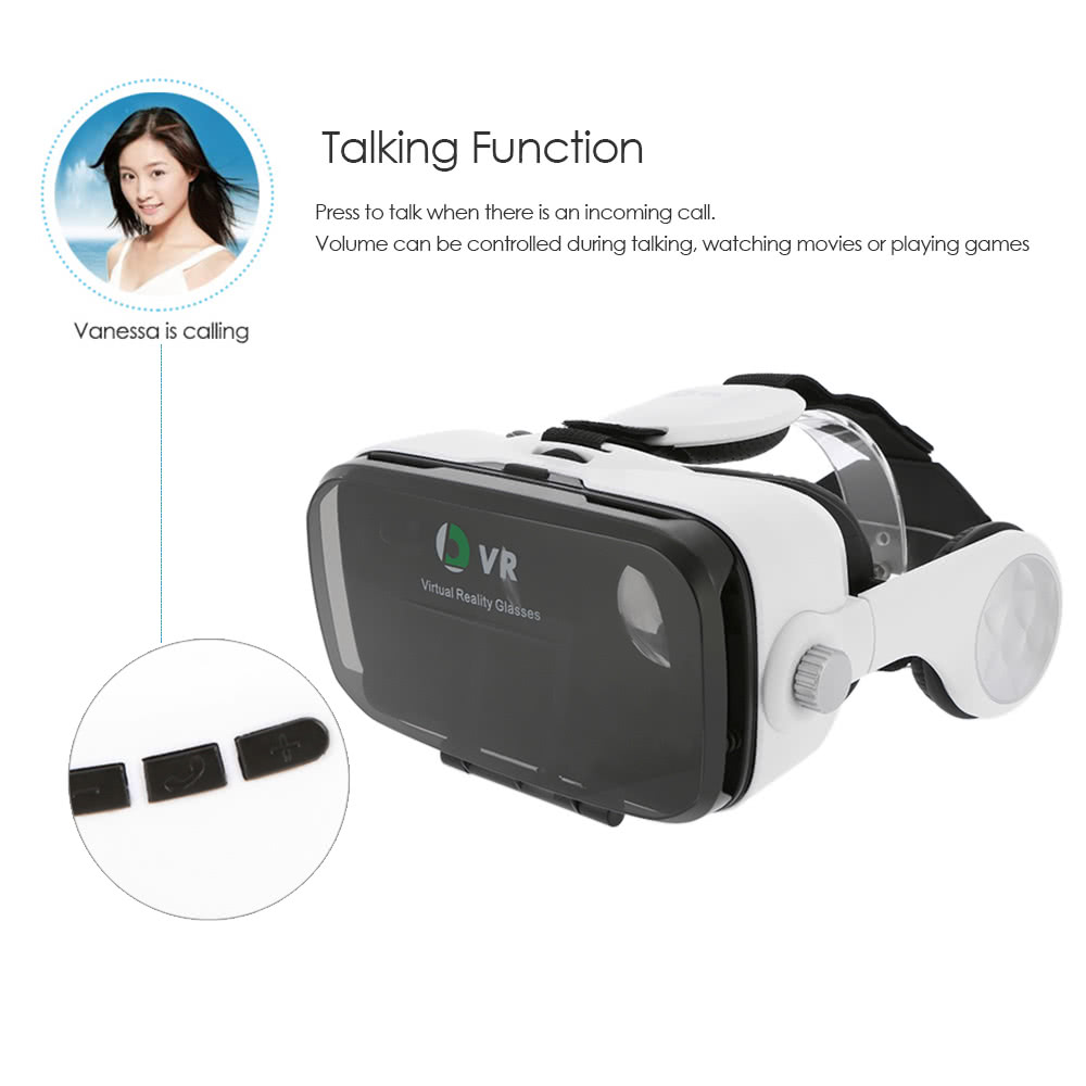 OL Virtual Reality Glasses VR Box Talking Glasses Headset with Headphone  for Android iOS Windows Smart Phones with 5 5-6 2 inches