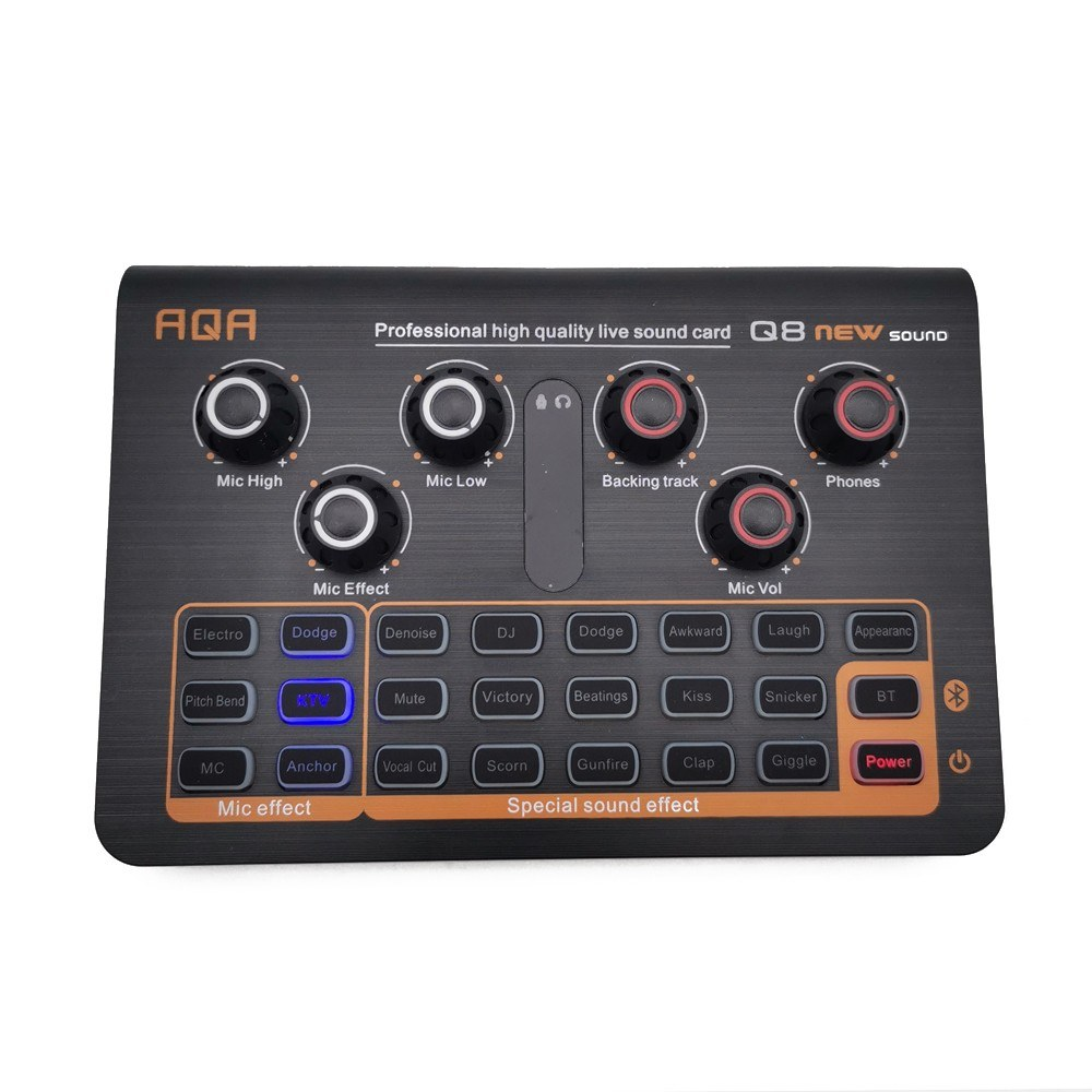 tomtop.com - 37% OFF Q8 Microphone External BT Sound Card, Limited Offers $36.99
