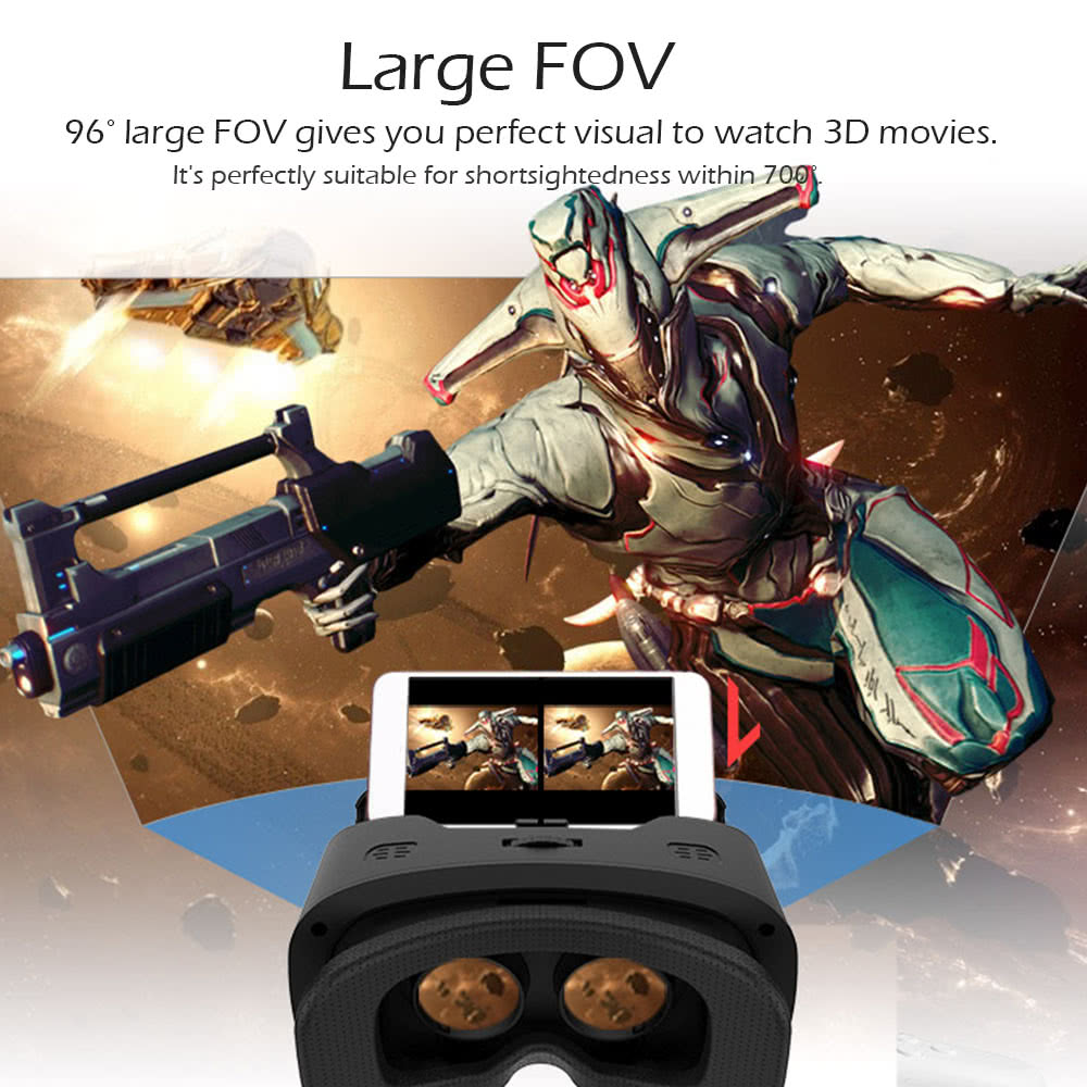 Virtual Reality Glasses 3D VR Box Glasses Headset for Android iOS Windows  Smart Phones with 4 5 to 5 5Inches Sales Online - Tomtop