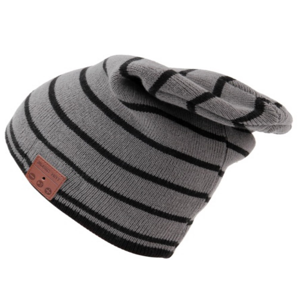 $2.5 OFF Wireless Bluetooth Beanie Headphone Winter Hat Grey,free shipping $9.99