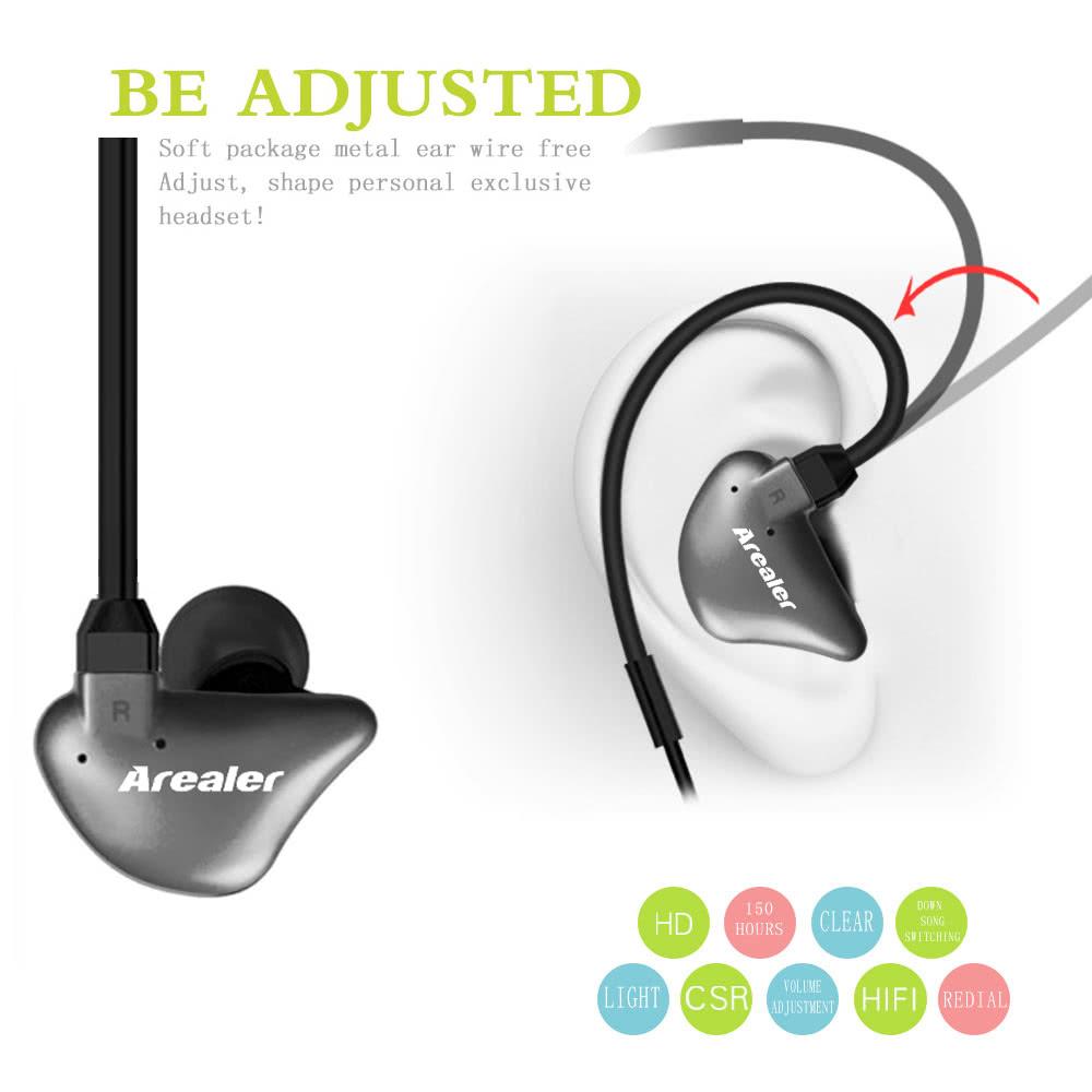 Arealer Q6 Wireless Stereo BT Headphone In-ear Sport BT 4 ...
