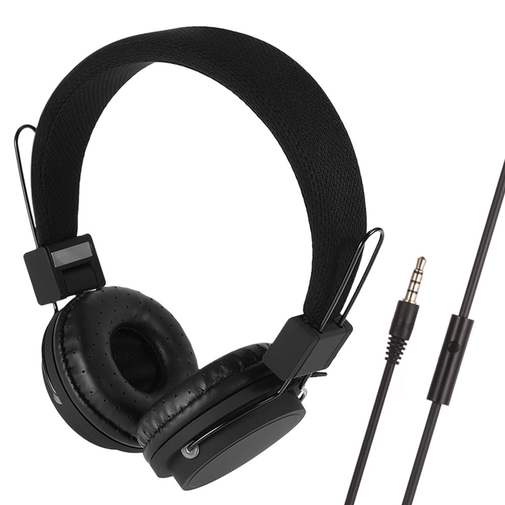 Best Wired Headphones On Ear Foldable Black Sale Online Shopping Cafago Com