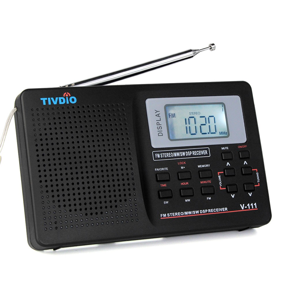 tivdio pocket mini mw fm sw stereo radio mit kopfh rer. Black Bedroom Furniture Sets. Home Design Ideas
