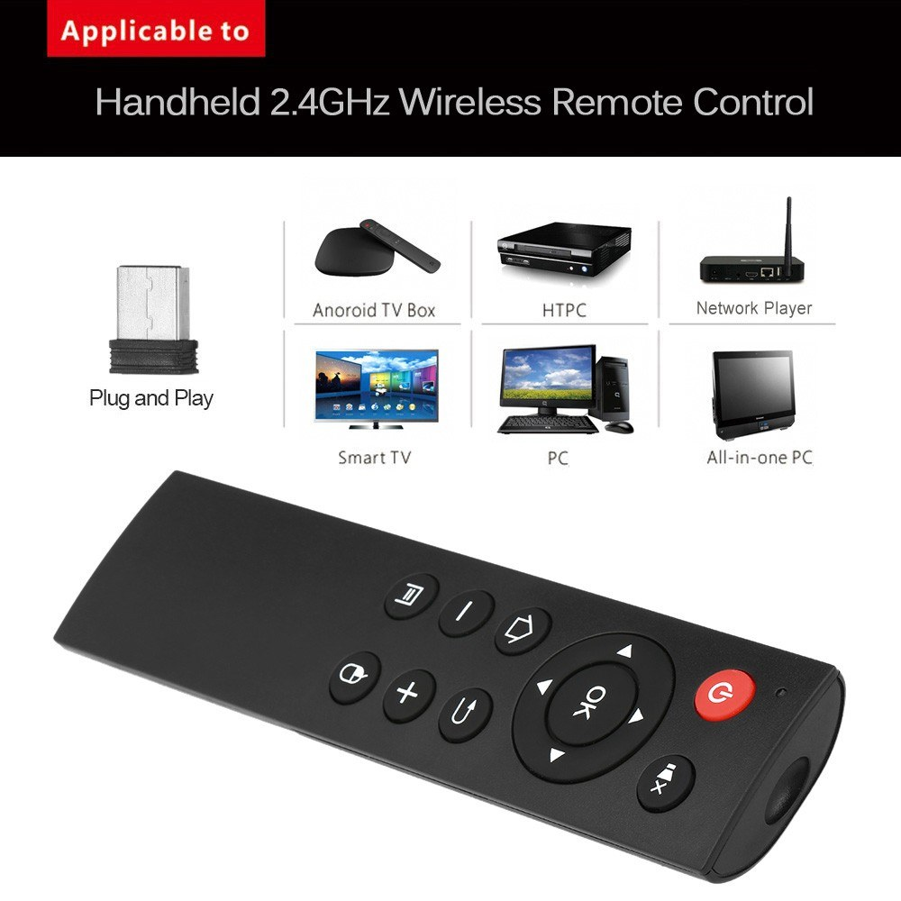 2 4GHz Wireless Remote Control Handheld with USB 2 0 Receiver Adapter for  Smart TV Android TV Box Laptop PC Sales Online - Tomtop