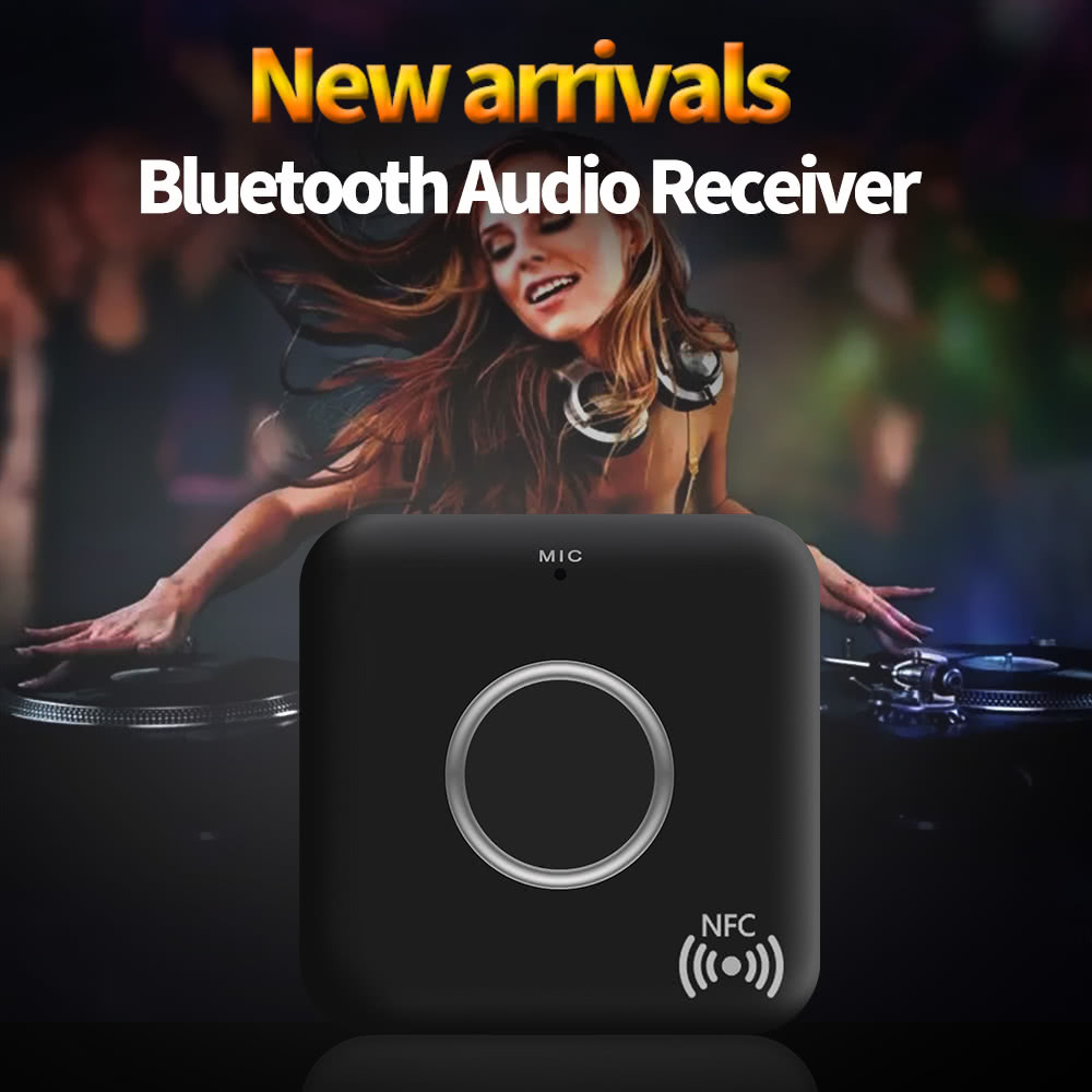 B7 Bt Receiver Csr8635 41 Wireless Audio Music Box 35mm Aux Stereo Bluetooth H166 Adapter With Mic Out For Speaker Car Home System Black