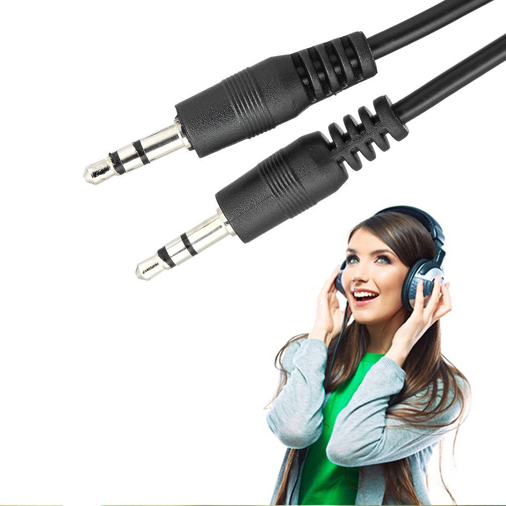 1m 3.5mm Male to 3.5mm Male Audio Cable Black