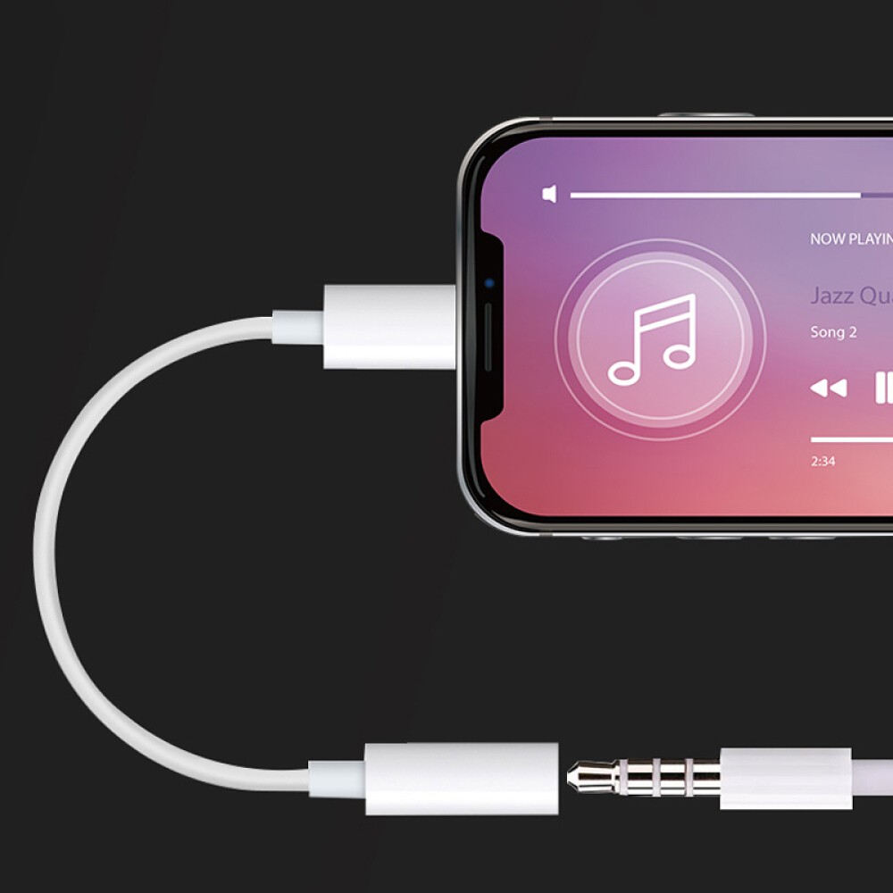 Original Apple Lightning to 3.5mm Headphone Jack Adapter for iPhone X 8 8 Plus 7 7 Plus Support iOS 10 and Above