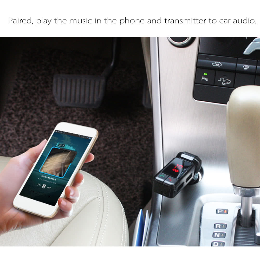 BC-06 Wireless Bluetooth Car Charger Dual USB