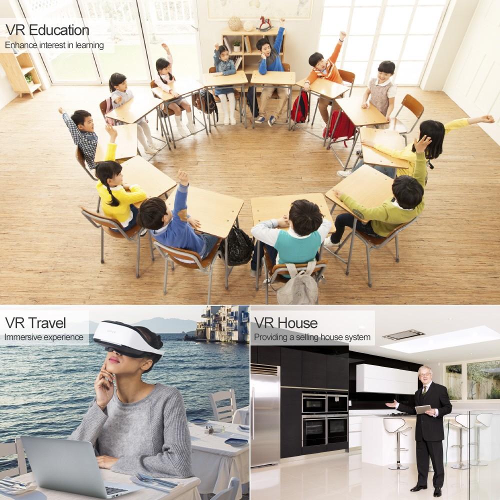 DeePoon E3-C 3D VR Headset Immersive Virtual Reality Glasses