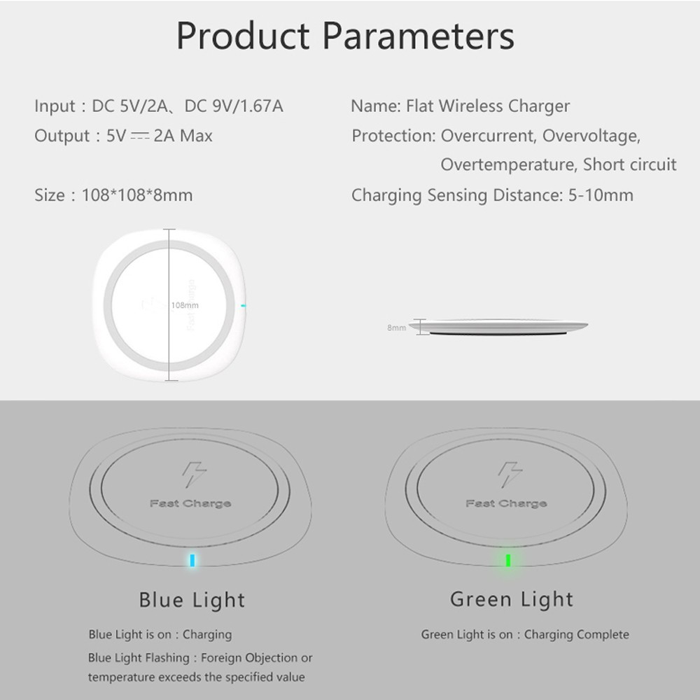 Qi Wireless Charger With Anti Slip Rubber Sales Online Tomtop Mobile Circuit Diagram