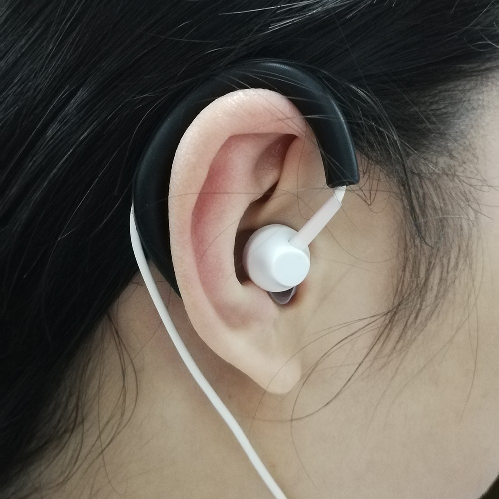 2 Pairs 4 PCS Weiche Silikon Nudeln Kabel Kopfhörer Ohrbügel Clip ...