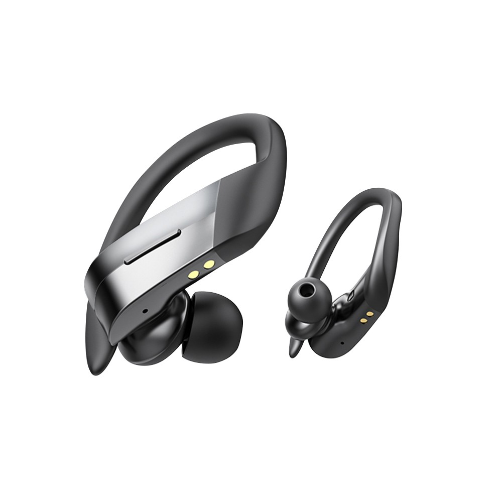 Best Wireless Headset Bluetooth 5 0 300mah Tws Sport Ear Hook Black Sale Online Shopping Cafago Com