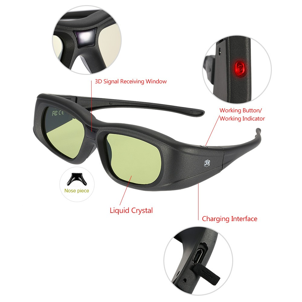 Gonbes G05 Bt 3d Active Shutter Glasses Tv Sales Working Of 3 D Online Tomtop