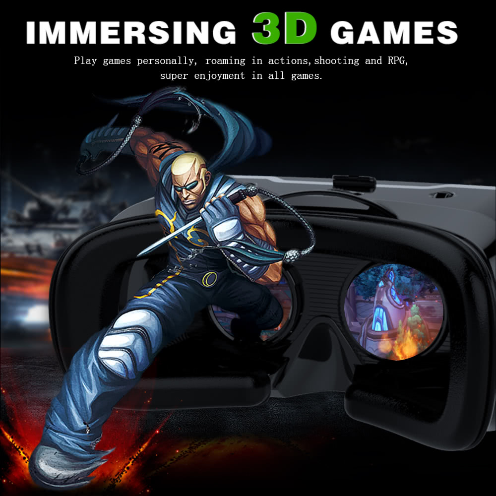 VR SHINECON 2 0 Virtual Reality Glasses 3D VR Box Headset 3D Movie Game  w/SH-B01 Wireless BT 3 0 Remote Control VR Gamepad Universal for Android  iOS