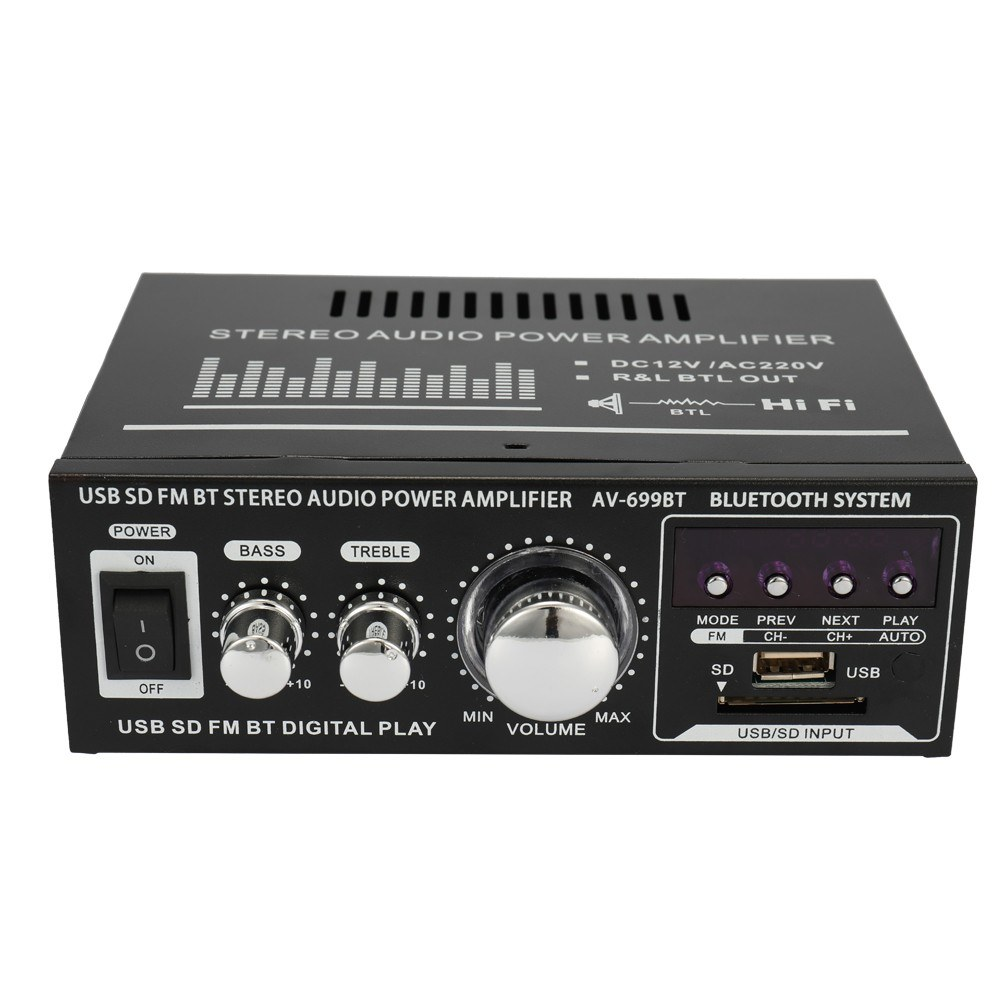 Tomtop - 48% OFF AC 220V / DC12V HIFI Audio Stereo Power Amplifier, Free Shipping $30.99