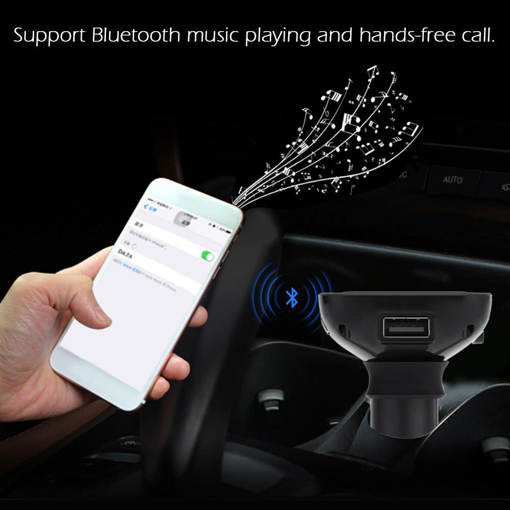 F-100BT Car MP3 Audio Player Wireless BT Wireless FM Transmitter FM  Modulator Car Kit TF Card Hands-free Charger for Smart Phones