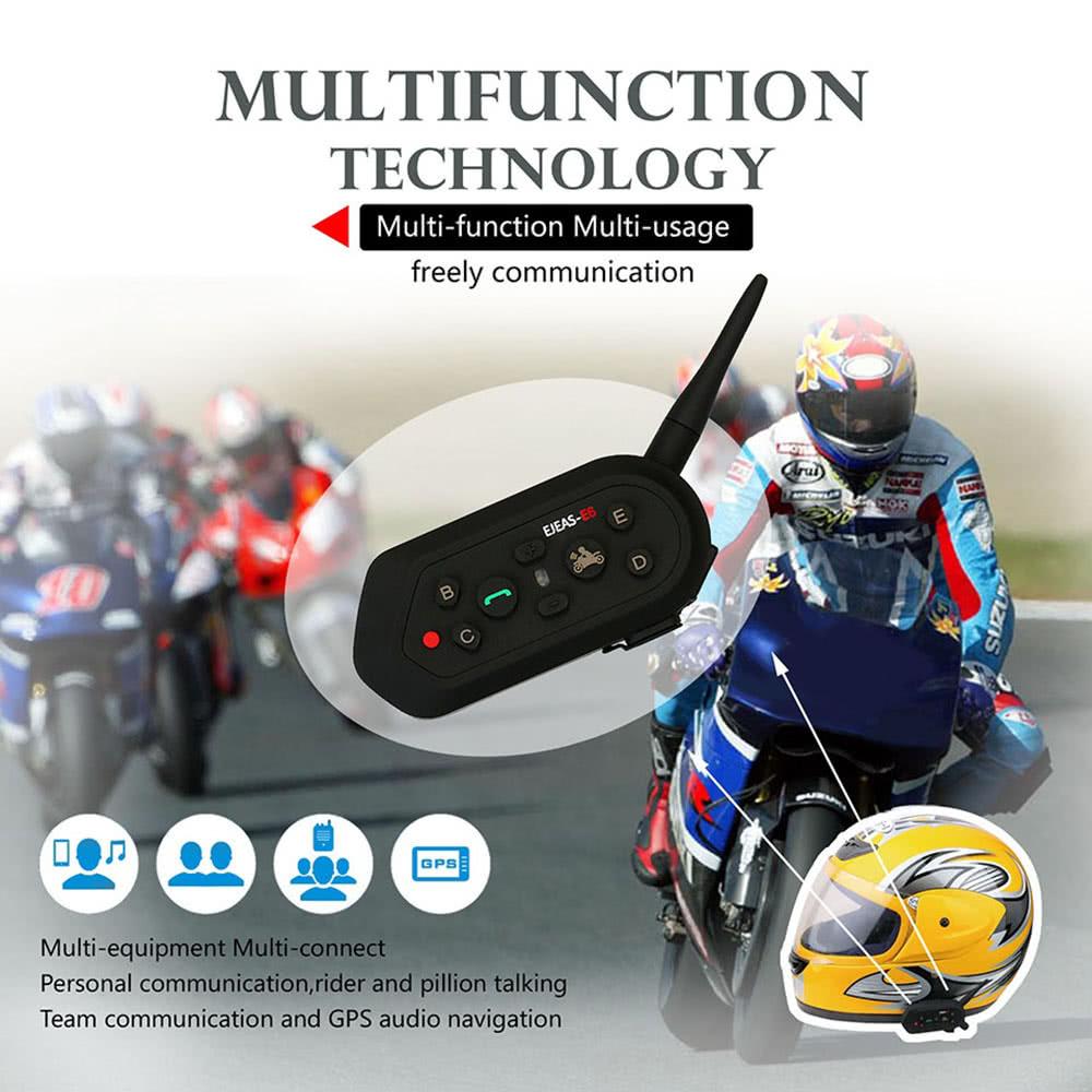 2 jeux ejeas e6 moto bt headset intercom 1200m talking range full duplex mains libres. Black Bedroom Furniture Sets. Home Design Ideas