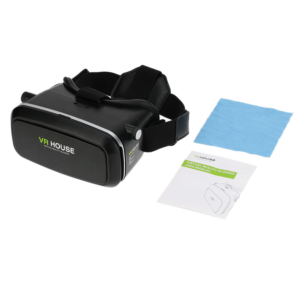 Vr house virtual reality glasses 3d vr box headset 3d for Vr house