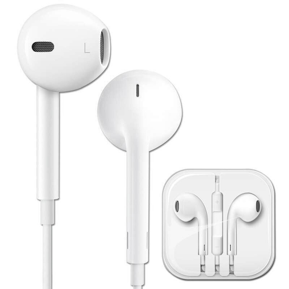 Original Apple EarPods with 3.5mm Headphone Plug In Ear Earphones In-line Remote Microphone for iPhone 6s Plus 6 Plus SE 5s 5 iPad