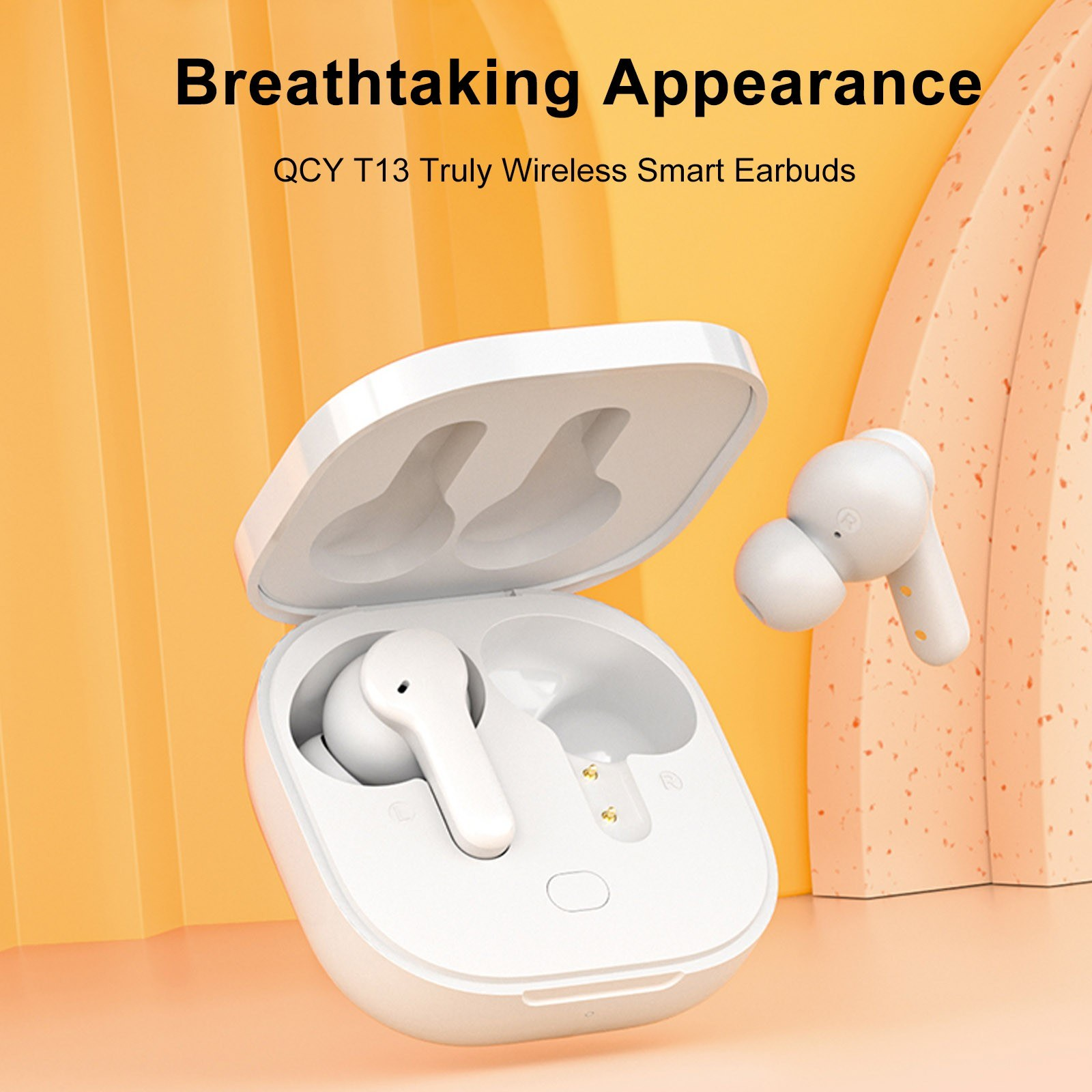 QCY T13 Earphone BT 5.1 Wireless In Ear Headsets Earbuds with Microphone Charging Box