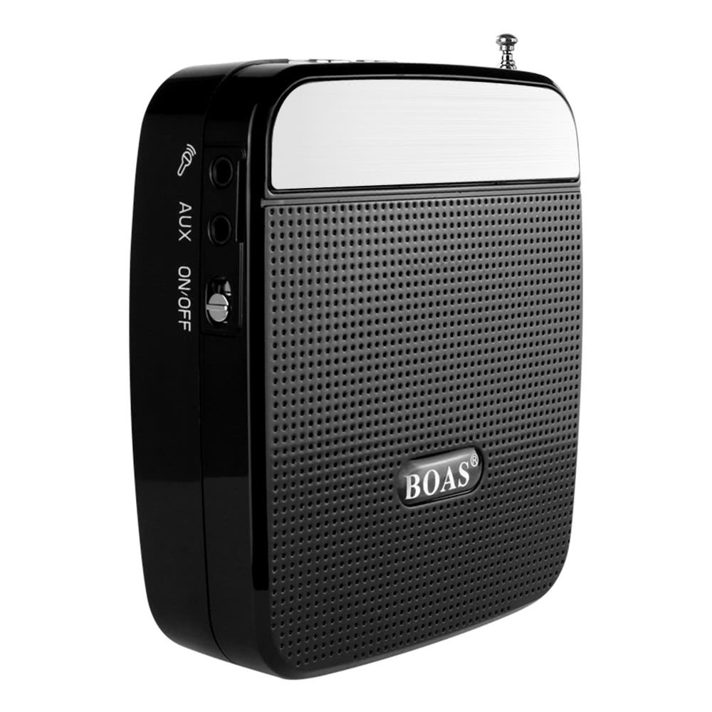 Boas Bq 800 Loudspeaker High Power Speaker Voice Amplifier Support With Dual Handlebar Mount Weatherproof Speakers W Fm Radio Mp3 Player Microphone Black For Teachers Tour Guide Sales Promotion