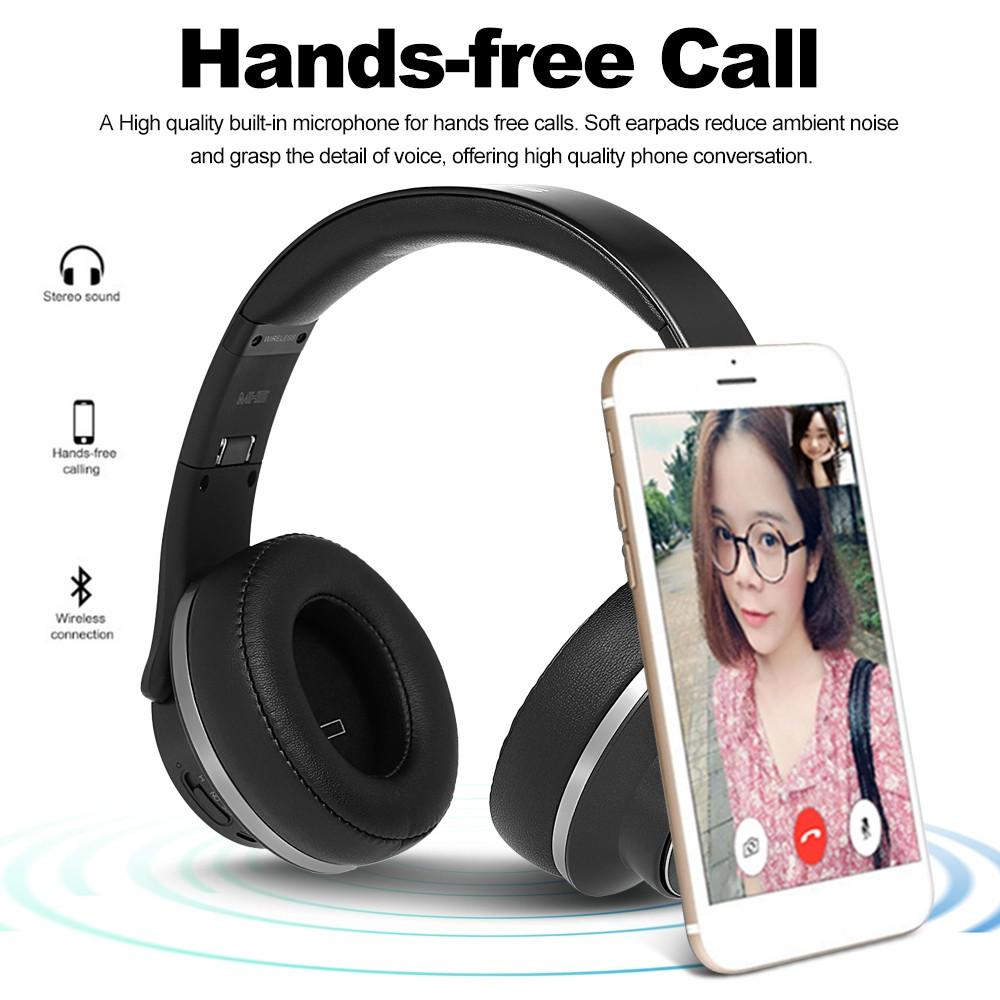 Sodo Mh5 Bluetooth Headphone Twist Out Speaker Bluetooth 4: SODO MH5 2 In 1 BT Headphones With Microphone Black Sales