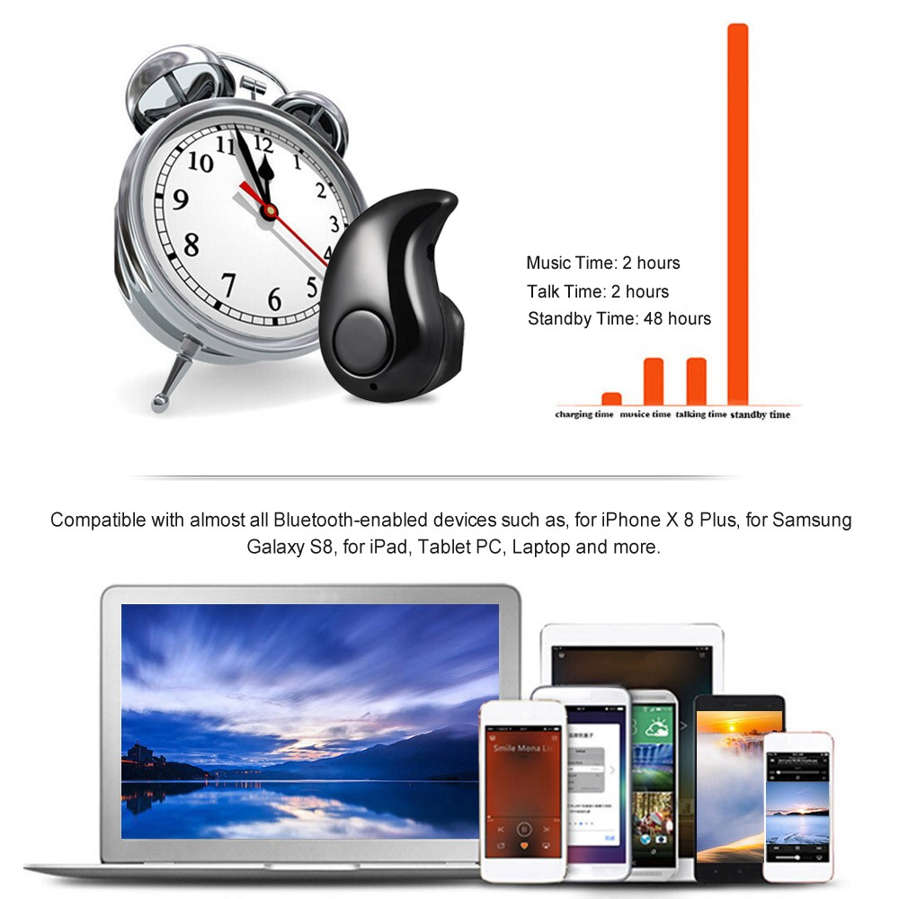 S530 Invisible 4g Earphone Bt 41 Headphone Sales Online Black Tomtop Headset Bluetooth Mini S 530