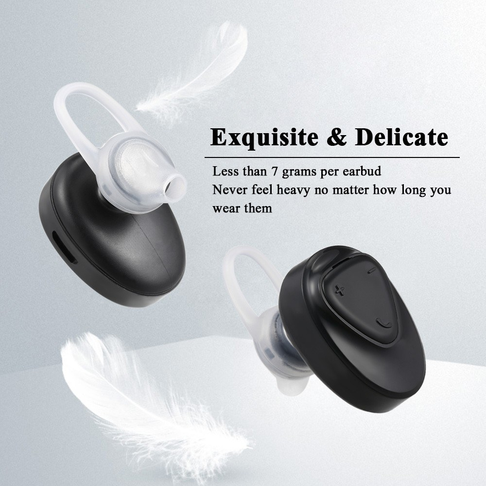 9feaecc80d3 BL-02 Wireless Bluetooth 4.2 Stereo Earphones Mini In-ear Sport Headsets  Mic Earbuds Long Talk Time