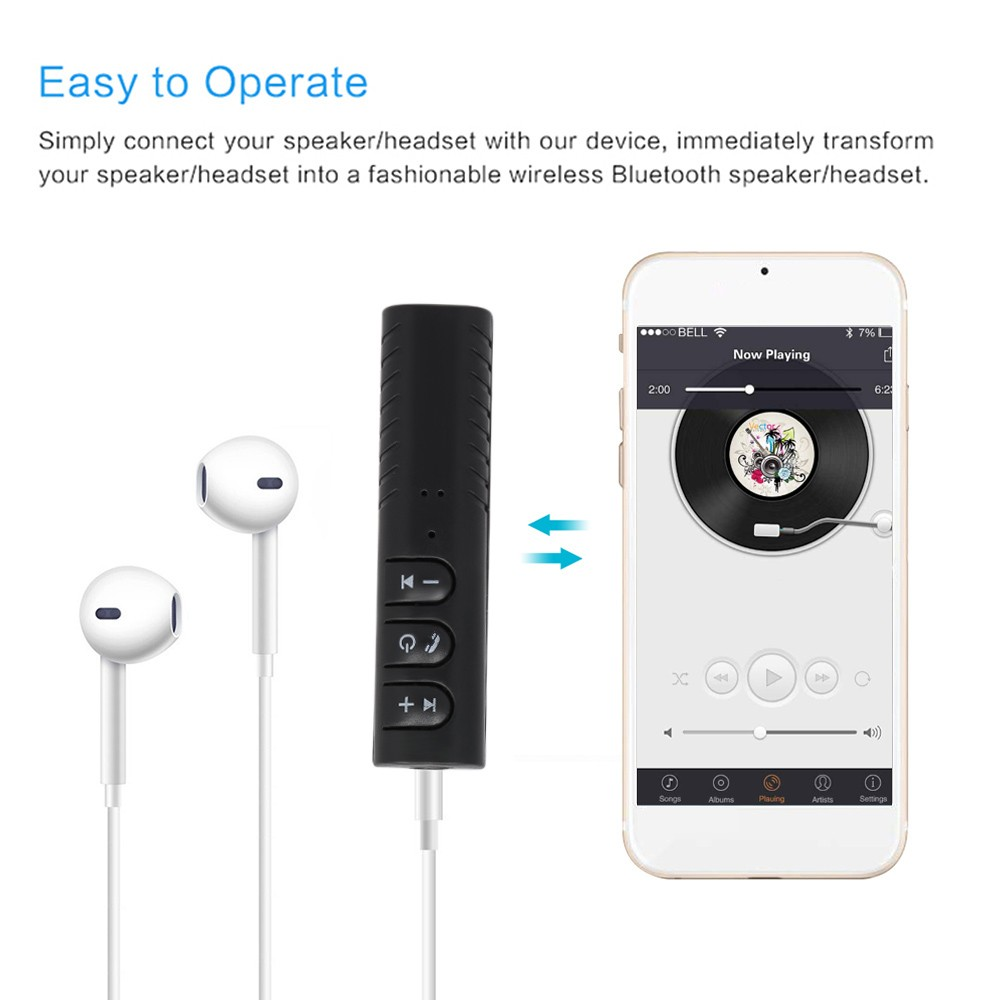 Wireless BT 4.1 Audio Receiver Car Kit with Microphone