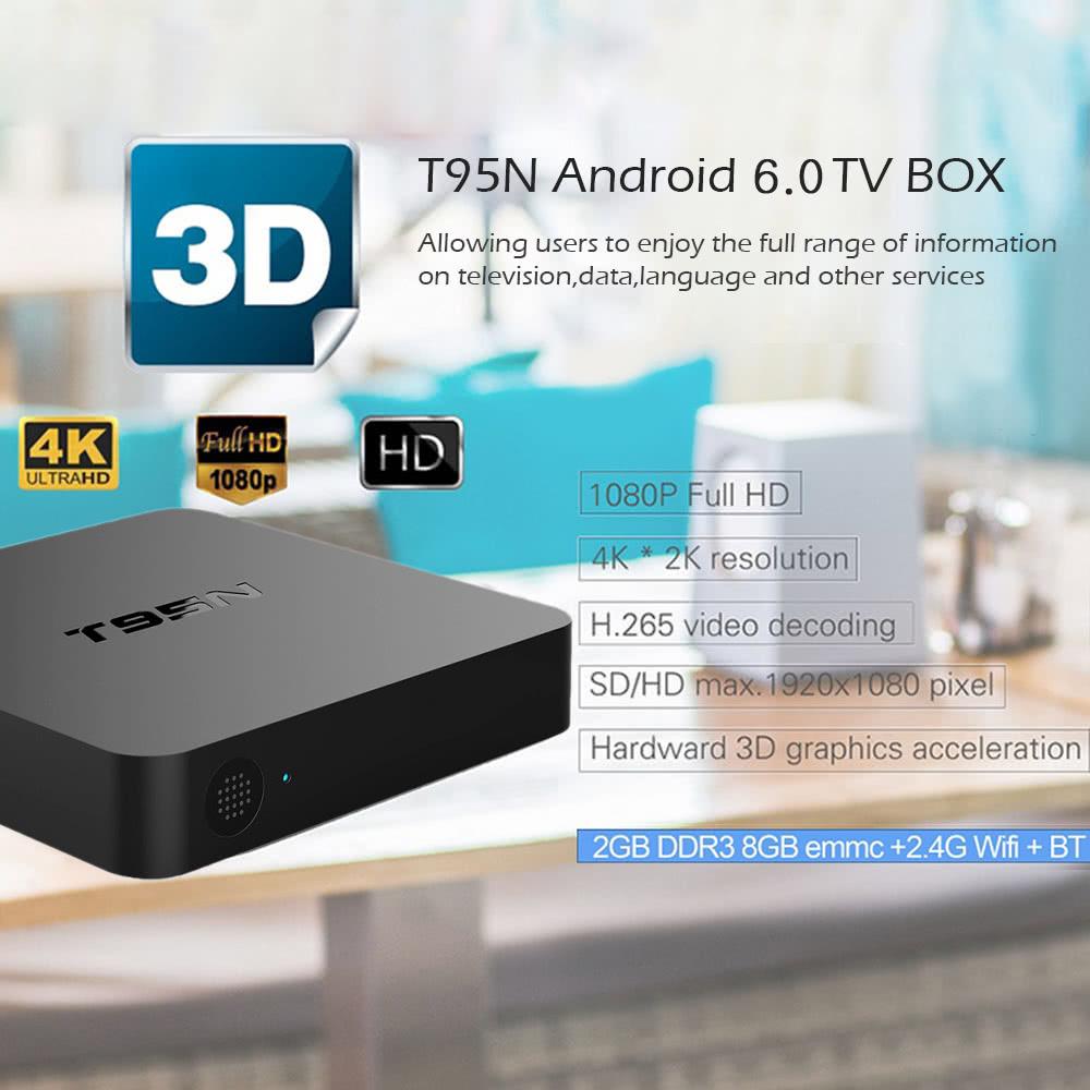 Best T95N Smart Android TV Box 2G / 8G Mini PC WiFi & LAN H 265 8g eu 2gb  ddr3 Sale Online Shopping | Cafago com