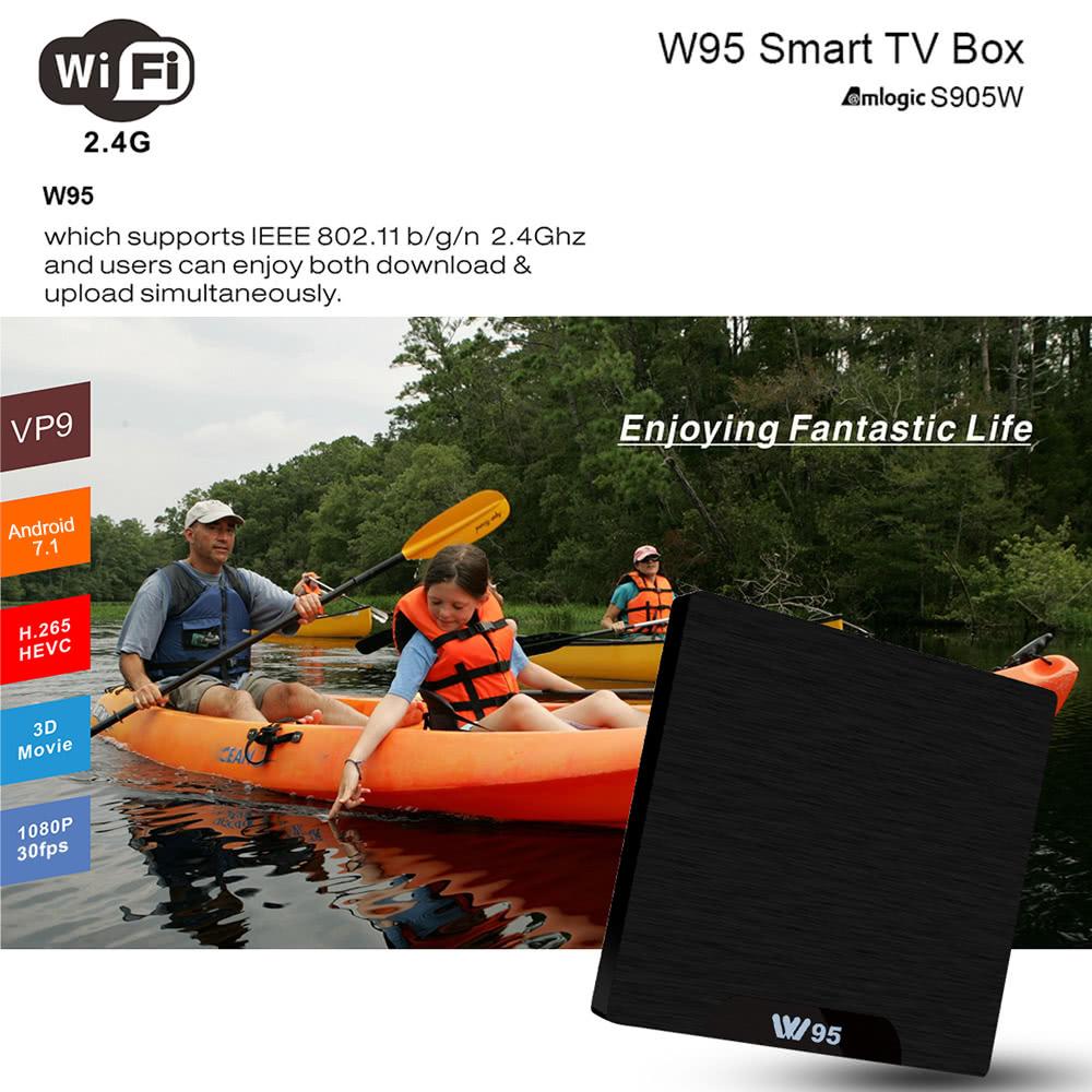 W95 Android 7 1 TV Box Amlogic S905W 1GB / 8GB EU Plug