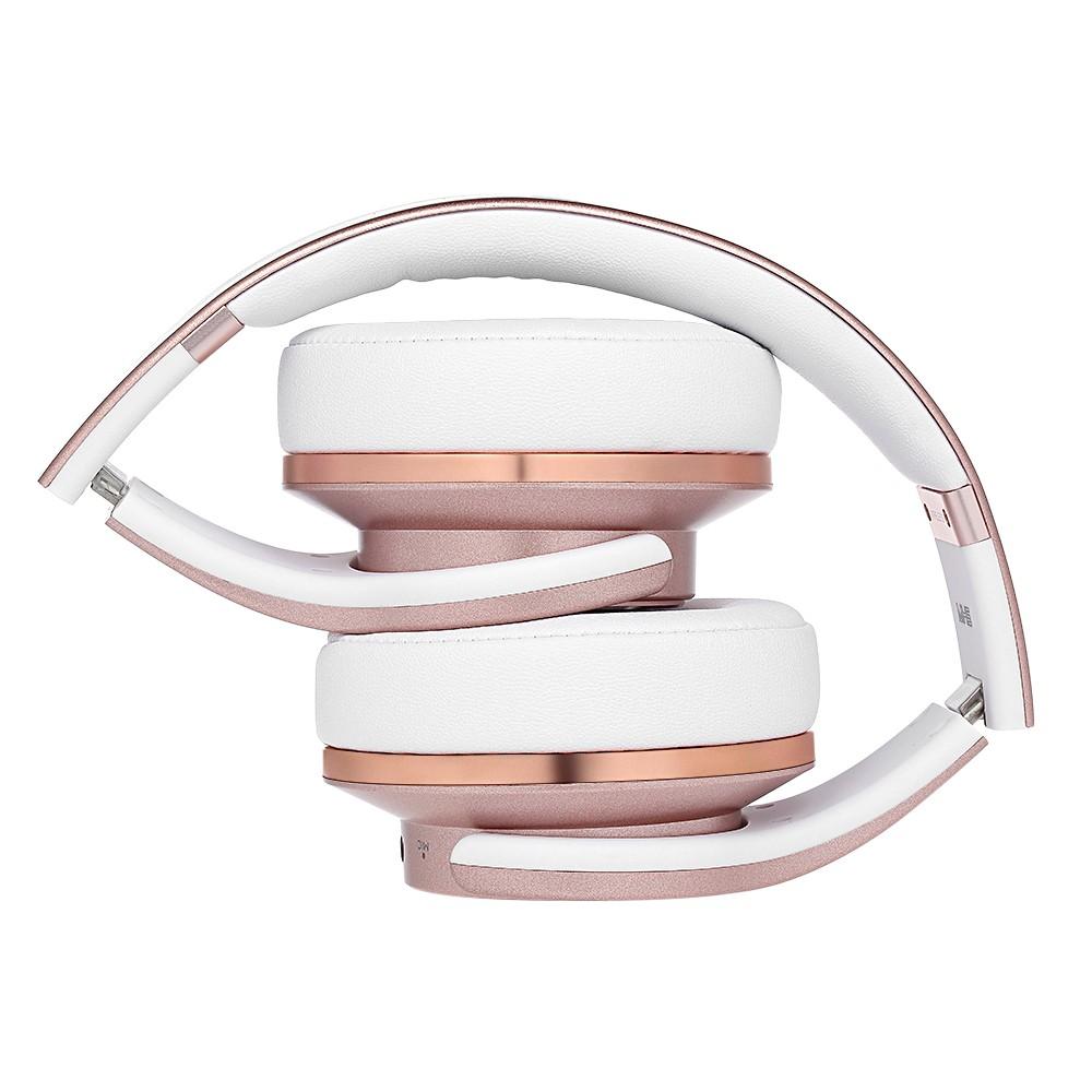 Sodo Mh5 Bluetooth Headphone Twist Out Speaker Bluetooth 4: SODO MH5 2 In 1 BT Headphones With Microphone Rose Gold