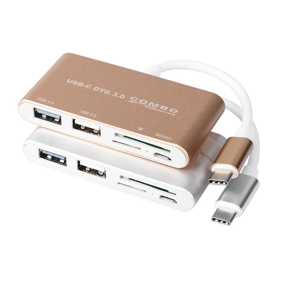 5 In 1 Hub Usb 30 Type C Card Reader 20 Otg 3 Smart Combo Golden Tf Sd Slot For Macbook Sales Online Tomtop