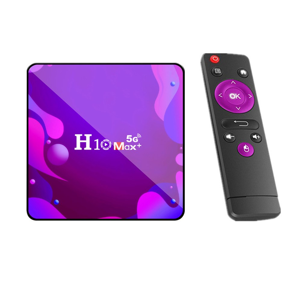 tomtop.com - 34% OFF H10 Max+ Smart TV Box Receiver Android 10.0 2GB+16GB 4K Media Player, Limited Offers $31.99